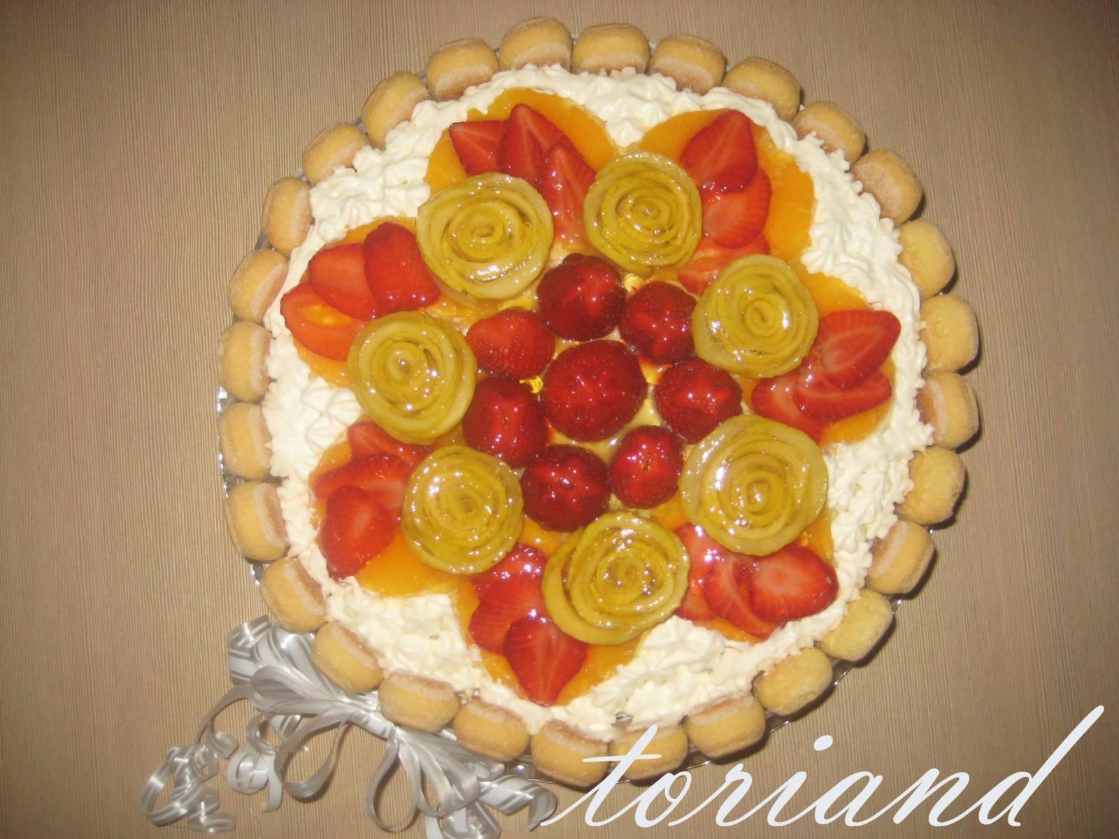 Украшение фруктами на торте мастер класс